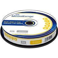 MediaRange DVD+RW 10 ks cakebox - Médium