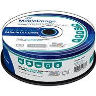 MediaRange DVD + R Dual Layer 8.5GB Injekt Printable, 25ks - Médium