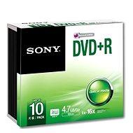 Sony DVD + R 10 ks v SLIM krabičke - Médium