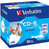 Verbatim CD-R Imprimable AZO 52x, Printable 10ks v krabičke - Médium