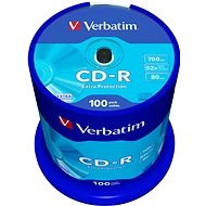 Verbatim CD-R DataLife Protection 52x, 100 ks cakebox - Médium