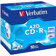 Verbatim CD-R DataLifePlus Crystal AZO 80 m/700 MB 52× balenie 10 ks v krabičke - Médium