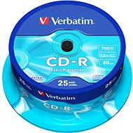 Verbatim CD-R DataLife Protection 80 m/700 MB 52× balenie 25 ks Cake-Box