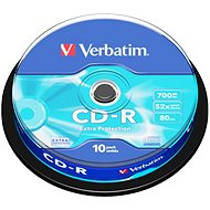 Verbatim CD-R DataLife Protection 52×, 10 ks Cake-Box - Médium