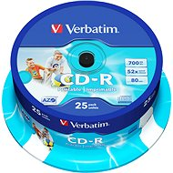 Verbatim CD-R DataLife Protection 52x Printable 25 ks cakebox - Médium