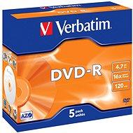 Verbatim DVD-R 16×, 5 ks v škatuľke - Médium