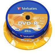 Verbatim DVD-R 16x, 25 ks cakebox - Médium