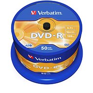 Verbatim DVD-R 16x, 50 ks cakebox - Médium