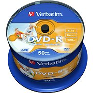 Verbatim DVD-R 16x, Printable 50ks cakebox - Médium