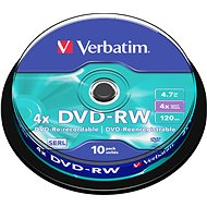 Verbatim DVD-RW 4x, 10ks vakebox - Médium