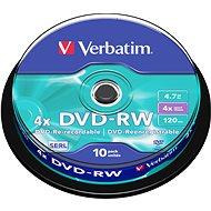 Verbatim DVD-RW 4x, 10ks vakebox