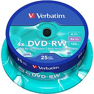 Verbatim DVD-RW 4x, 25ks CakeBox - Médium