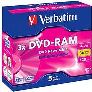 Verbatim DVD-RAM 3×, 5 ks v škatuľke - Médium