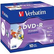 Verbatim DVD+R 16x, Printable 10ks v krabičke - Médium
