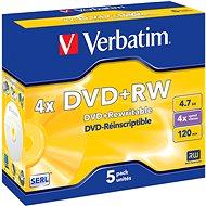 Verbatim DVD+RW 4×, 5 ks v krabičke