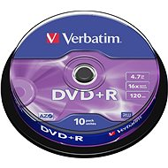 Verbatim DVD+R 16×, 10 ks Cake-Box - Médium