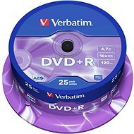 Verbatim DVD + R 16x, 25 ks CakeBox - Médium