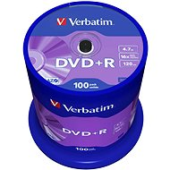 Verbatim DVD+R 16×, 100 ks CakeBox - Médium