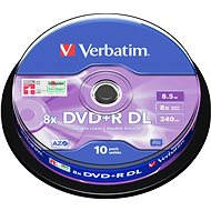 Verbatim DVD+R 8x, Dual Layer 10 ks cakebox - Médiá