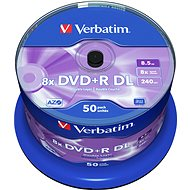 Verbatim DVD+R 8x, Dual Layer 50ks cakebox - Médiá