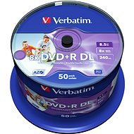 Verbatim DVD + R 8×, Dual Layer Printable 50 ks CakeBox - Médiá