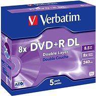 Verbatim DVD+R 8×, Dual Layer 5 ks v krabičke