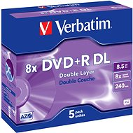 Verbatim DVD+R 8×, Dual Layer 5 ks v krabičke - Médium