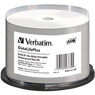 VERBATIM DVD-R 4,7 GB 16× WIDE GLOSSY WATERPROOF PRINT. No ID spindl 50pck/BAL - Médium