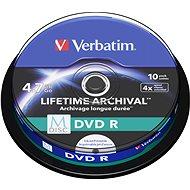 VERBATIM M-DISC DVD R 4× 4,7 GB Inkjet Printable 10 pck/BAL - Médium