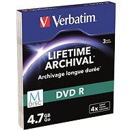 VERBATIM M-DISC DVD-R 4× 4,7 GB MATT SILVER SLIM 3pck/BAL - Médium