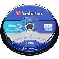 VERBATIM BD-R SL 25GB, 6x, spindle 10 ks - Médium