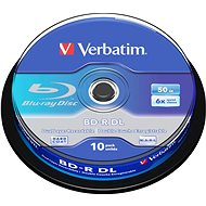 Verbatim BD-R 50 GB Dual Layer 6×, 10 ks Cake-Box