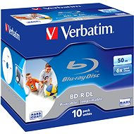 Verbatim BD-R 50 GB Dual Layer Printable 6×, 10 ks v krabičke