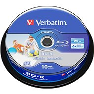 Verbatim BD-R SL 25GB Printable, 10ks CakeBox - Médium