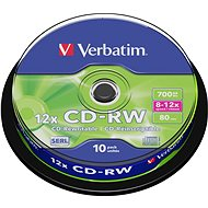 Verbatim CD-RW 10×, 10 ks Cake-Box