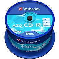 VERBATIM CD-R 80 52× CRYST. spindl 50pck/BAL - Médium
