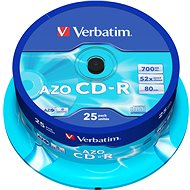 VERBATIM CD-R 80 52x CRYST. spindl 25pck/BAL - Médium