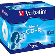 VERBATIM CD-R 80 MUSIC box 10pck/BAL - Médium