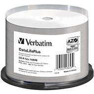 VERBATIM CD-R 80 52× PRINT. Wide Silver Inkjet spindl 50pck/BAL