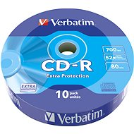 VERBATIM CD-R 80 52× WRAP EXTRA PROTECTION 10pck/BAL - Médium
