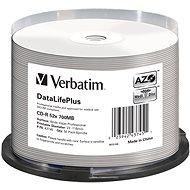 VERBATIM CD-R DLP 80min. 52× WIDE Profesional Printable 50-cake - Médium