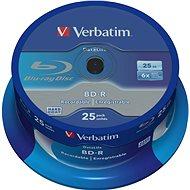 VERBATIM BD-R SL DataLife 25GB, 6×, spindle 25 ks - Médium
