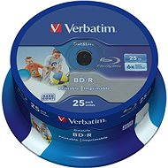 VERBATIM BD-R SL DataLife 25 GB, 6×, printable, spindle 25 ks - Médium