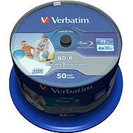 VERBATIM BD-R SL DataLife 25 GB, 6×, printable, spindle 50 ks - Médium