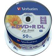 VERBATIM DVD+R DL AZO 8.5 GB, 8×, printable, spindle 50 ks - Médium