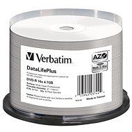 VERBATIM DVD-R DataLifePlus 4.7 GB, 16×, printable, spindle 50 ks - Médium
