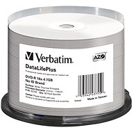 VERBATIM DVD-R DataLifePlus 4.7 GB, 16×, thermal printable, spindle 50 ks - Médium