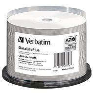 VERBATIM CD-R DataLifePlus 700 MB, 52×, white thermal printable, spindle 50 ks