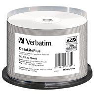 VERBATIM CD-R DataLifePlus 700MB, 52x, silver thermal printable, spindle 50 ks - Médium