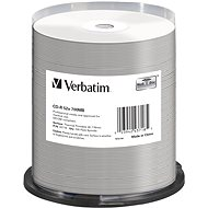 VERBATIM CD-R DataLifePlus 700 MB, 52×, thermal printable, spindle 100 ks - Médium